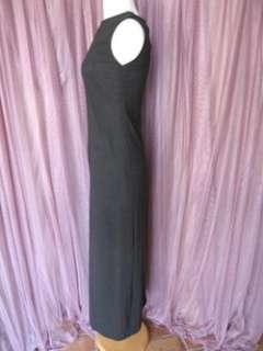 RENE LEZARD GRAY STR WOOL LONG DRESS + JACKET SUIT~42