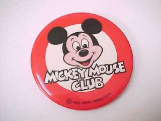 Vintage 1980s WALT DISNEY   THE MICKEY MOUSE CLUB   3 Pin Pinback