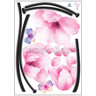 big pink flower wall removable decal sticker