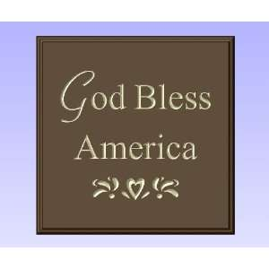 Decorative Wood Sign Plaque Wall Decor with Quote God Bless America