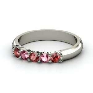 Ring, Sterling Silver Ring with Red Garnet & Rhodolite Garnet Jewelry