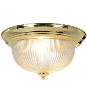 AF Lighting 671675 Halophane Dome Ceiling Fixture, Polished Brass, 15
