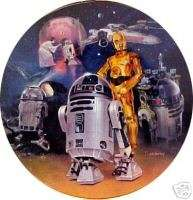 Star Wars R2 D2 Heroes and Villains Plate, Hamilton 99