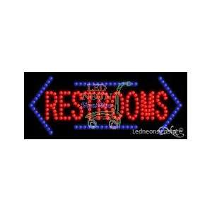 Restrooms LED Business Sign 11 Tall x 27 Wide x 1 Deep
