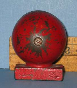 M873 RED BALL SAFE OLD CAST IRON BANK ALL ORIG GUARANTEED OLD