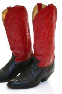 Vintage Tony Lama Leather Cowboy Western Boots Sz 10.5
