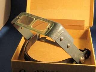 Vintage Donegan OptiVISOR Model 5 Optical Glass Binocular Magnifier
