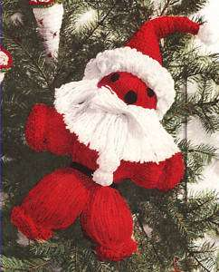 Vintage Crochet PATTERN Santa Christmas Door Decoration