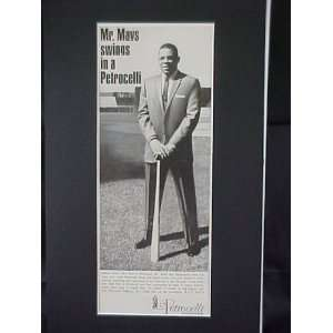 Willie Mays San Francisco Giants 1963 Petrocelli Clothes Advertisement