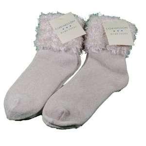 Lot of 2 Pairs Womens Covington Fuzzy Cuff Socks Tan
