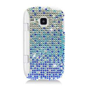 BLUE BLING HARD CASE FOR SAMSUNG DOUBLE TIME I857 PROTECTOR SNAP COVER