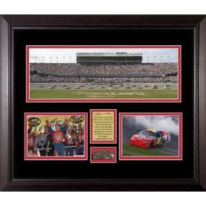 Jeff Gordon Panoramic   Framed with Piece of Daytona International