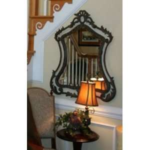 Extra Large BAROQUE IRON Bronze Wall Mirror: Home