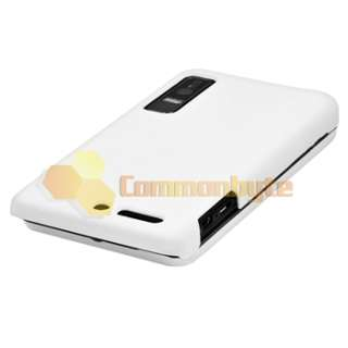 on Hard Case+Privacy Guard+Car Charger+USB For Motorola Droid 3 XT862