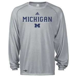 Michigan Wolverines adidas Grey Anti Microbial Football