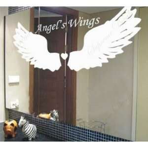 Made in US   Free Custom Color   Angels Wings   removable vinyl art