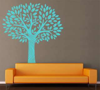 Wall Art Tree T2 ONE COLOR Vinyl Decor Decal Sticker Mural Decoration