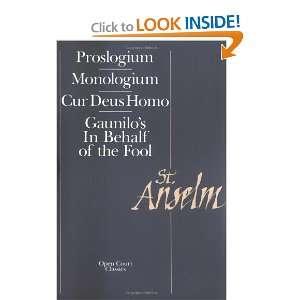 Deus Homo (9780875481098) Saint Anselm of Canterbury, S. N. Deane