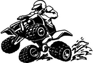Quad Runner Vinyl Decal Car Truck Cycle Window Sticker
