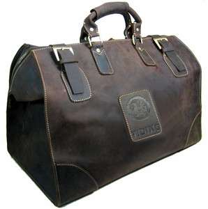 Full Grian Vintage Leather Duffle Gym Bags Grip Luggage