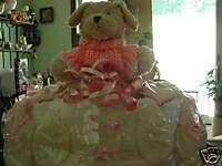 DIAPER CAKE PUPPY CAKE BABY SHOWER GIFT HUGE
