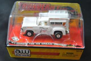 AUTO WORLD 1967 WHITE FORD F 100 ICE CREAM TRUCK HO SLOT CAR
