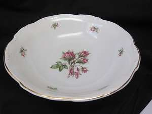 Hertel Jacob Porzellan Bavaria Germany MOSS ROSE Vegetable Bowl 10