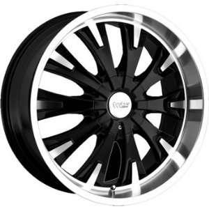Cruiser Alloy Cake 17x7.5 Black Wheel / Rim 5x100 & 5x4.5 with a 42mm
