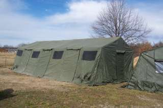 MILITARY TENT BASE X 307 SURPLUS +FLOOR+LINER 18x35 SURPLUS 630