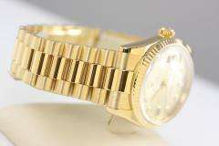 MENS ROLEX PRESIDENT DAY DATE CHAMPAGNE DIAMOND DIAL 18K SOLID GOLD