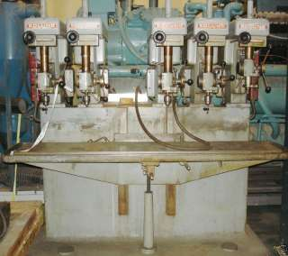 Edlund 5 Spindle Model 1F 7 Drill Press