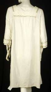 NEW White Chocolate Embroidered Cotton Tunic Dress Extra Large XL