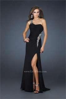 2012 New Elegant One Shoulder Chiffon Evening Prom Dress Ball Party