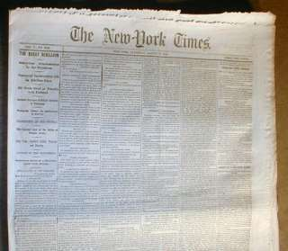 War newspaper ABRAHAM LINCOLN PROCLAMATION re War w Confeds