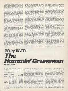 1975 Grumman American Tiger Aircraft report 1/15/12