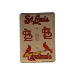 2 St Louis Cardinals Light Switch Plates ** Sports