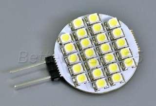 G4 24 SMD LED Pure White Light Marine Bulb Lamp 12V Car