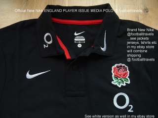 XXL 3XL NIKE PLAYER ISSUE ENGLAND RUGBY MEDIA POLO SHIRT jersey BLACK