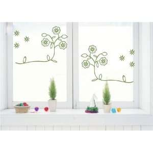 Decoration wall sticker wall mural decor Side by side flower decal
