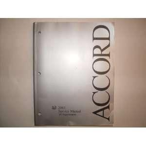 2003 Accord V6 Service Manual V6 Supplement Books