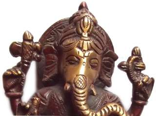 Hindu lord son of Shiva Ganesh brass statue (GN 152)