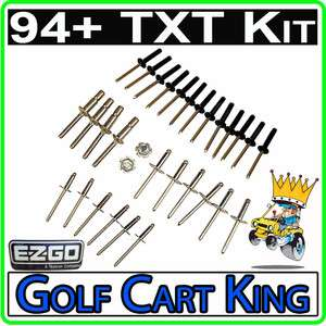 EZGO Complete Body Rivet Hardware Kit (94+) TXT Golf Cart Install Gas