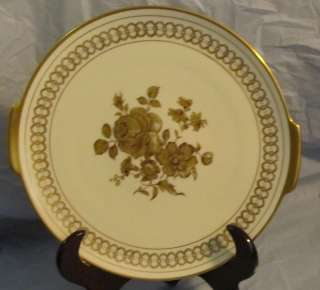 Gloria Fine Porcelain ~ Echt (Real) Gold ~ Cake Plate
