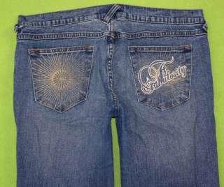 Fabulosity sz 13 Capri Stretch Womens Blue Jeans Denim Pants Juniors