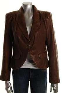 FAMOUS CATALOG Moda Brown Jacket Leather Coat Sale Misses L