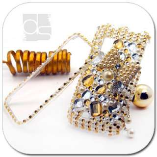 3D Bling Gold Crystal Hard Skin Case For Sprint Samsung Epic 4G Galaxy