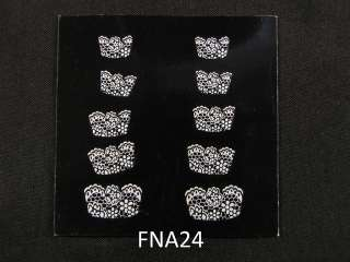 French Nail Tips Manicure Art Sticker Decals FNA24