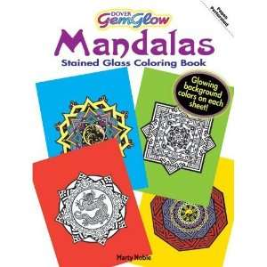 Mandalas GemGlow Stained Glass Coloring Book (Dover Design