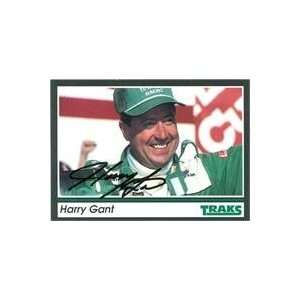 Harry Gant autographed Trading Card (Auto Racing) 1991 Tracks, #33