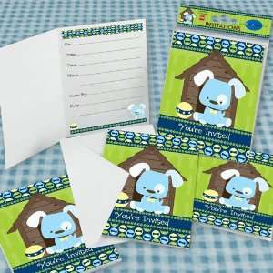 Boy Puppy Dog Fill in Invitations (8 count) Toys & Games